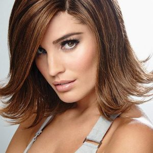 Women's Red Remy Human Hair Lace Front Wig Hand-tied By Rooted