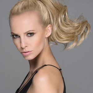 Women Long Blonde Hf Synthetic Ponytail Wrap-around