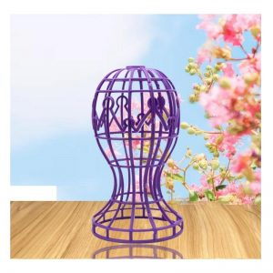 Lantern-shaped Plastic Wig Holder Hat Holder Multi-purpose Wig Head Holder