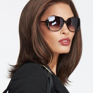 Women Mid Length Synthetic Lace Front Wig Mono Top By Raquel Welch