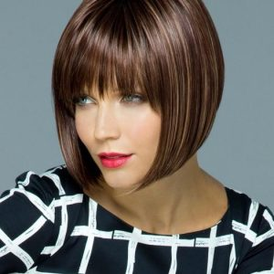Straight Women Red Short Tori Short Synthetic Wig Basic Cap