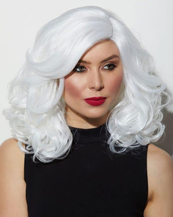 Women Long Real Hair Rosegal Reagan Lace Front Costume Wigs