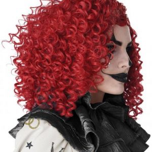Corkscrew Red Clown Curls Wig For Adults And Children