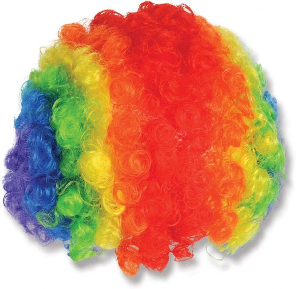 Best Costume Party Clown Giant Wig Multicolor Synthetic Wig