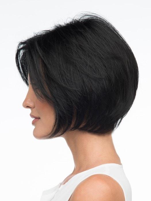 Women's Lexy Synthetic Short Black Human Hair Blend Wigs
