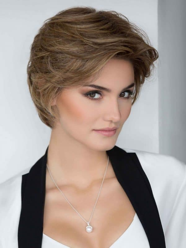 Women's Lexy Short Hair Synthetic Blend Wavy Lace Front Wigs
