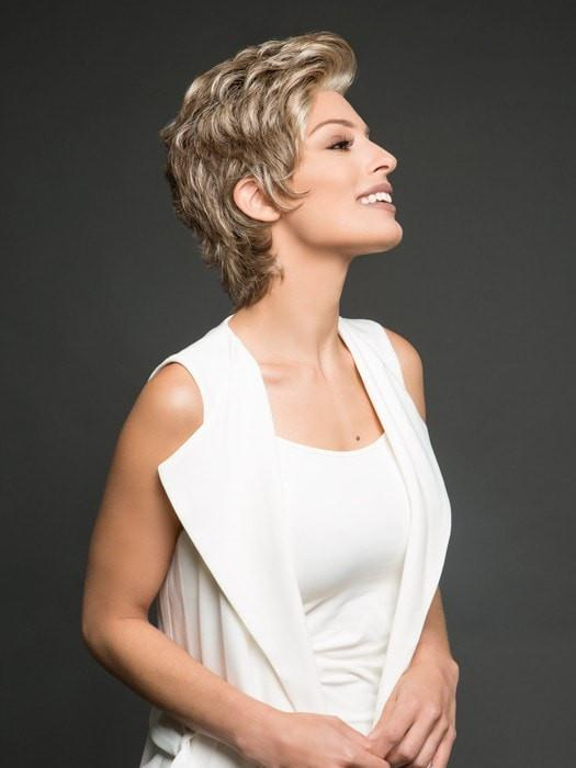 Short Blonde Women Monofilament Synthetic Lace Front Wig Hand-tied