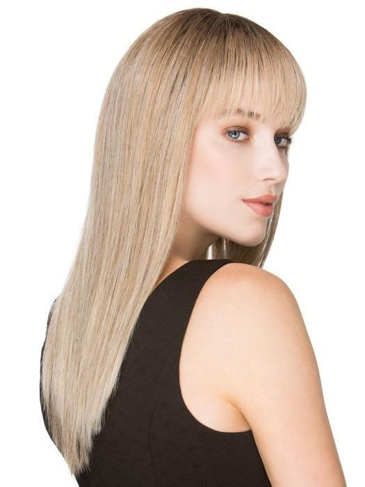Women Long Straight Blonde Synthetic Wig Mono Crown By Rooted