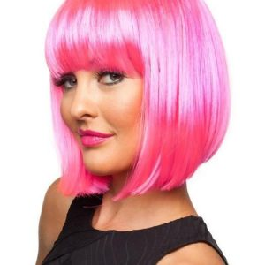 Best Colored Pink Doll Synthetic Wig Basic Cap For Halloween