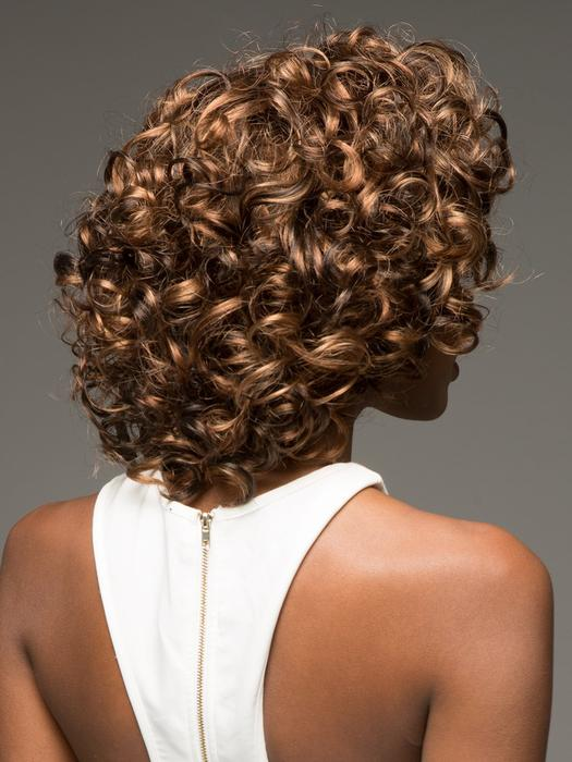 African American Women Curly Synthetic Lace Front Wig Basic Cap