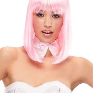 Women Doll Long Colored Synthetic Wig Basic Cap