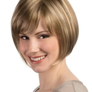 Short Straight Women Blonde Synthetic Wig Basic Cap