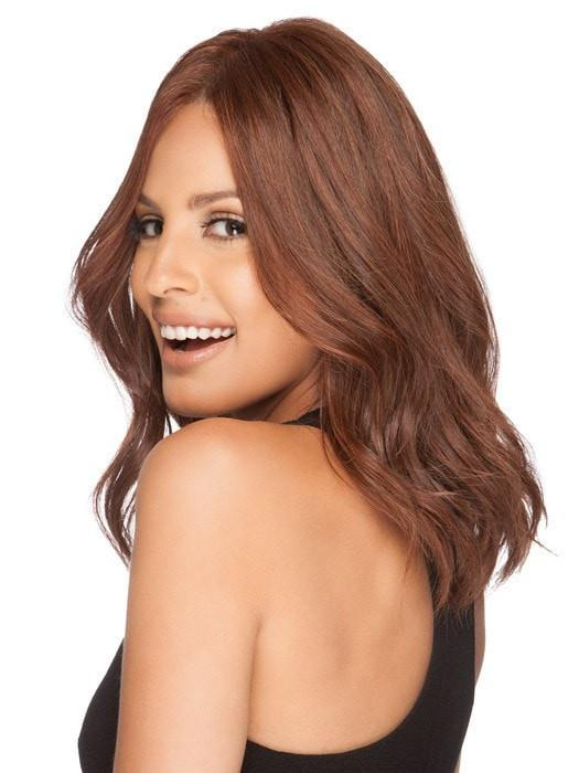 Mid-length Women Monofilament Remy Human Hair Lace Front Wig Hand-tied