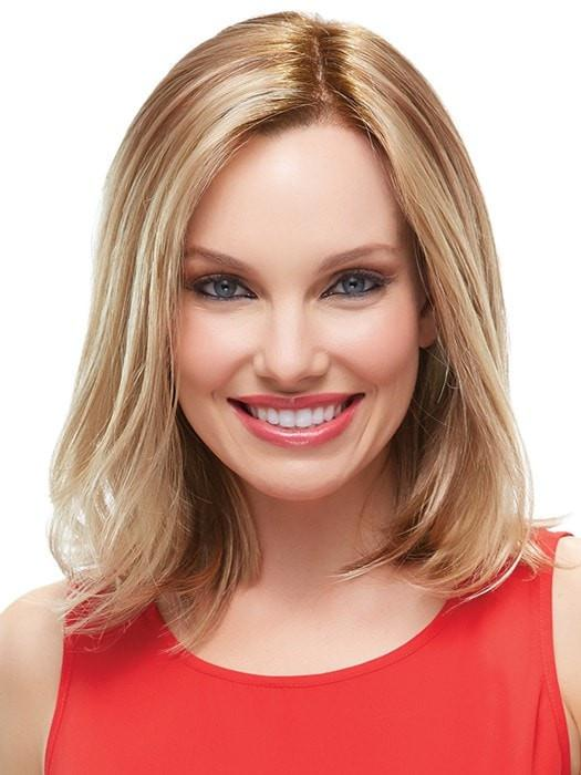 Mid-length Women Monofilament Synthetic Lace Front Wig By Rooted