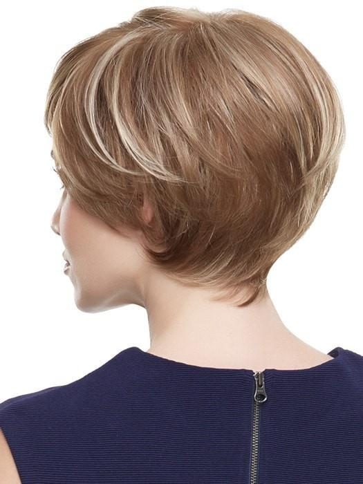 Short Straight Women Monofilament Synthetic Lace Front Wig Mono Top By Rooted