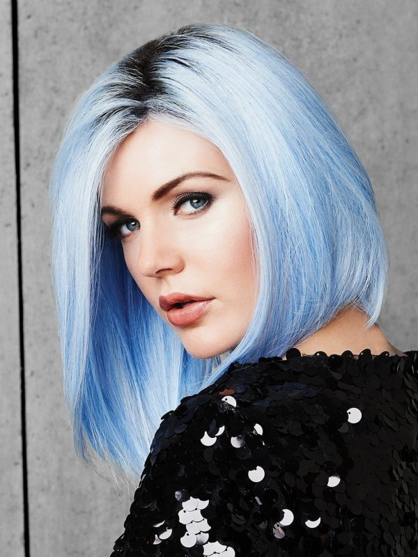 Women Short Straight Hf Synthetic Wig Basic Cap Colored By Rooted