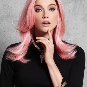 Women Straight Long Colored Synthetic Wig Basic Cap By Rooted