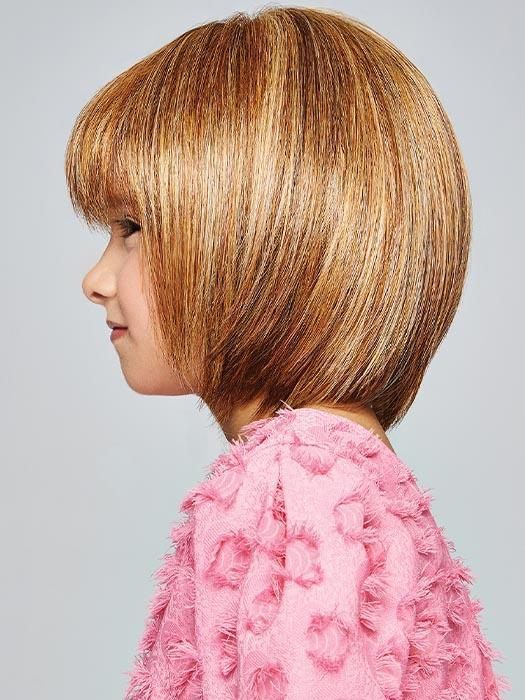 New Kids Short Blonde Straight Synthetic Hf Wig Mono Crown