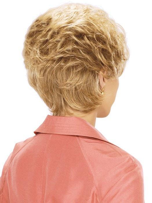 Short Blonde Women Wavy Synthetic Wig Basic Cap Brunette