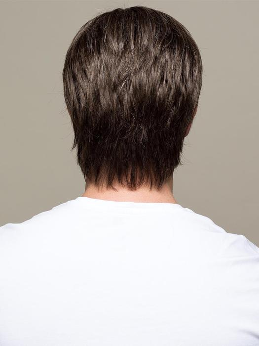 Men Short Straight Monofilament Synthetic Lace Front Wig By Rooted