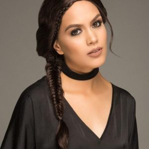 Women Long Black Braided Synthetic Lace Front Wig Mono Part