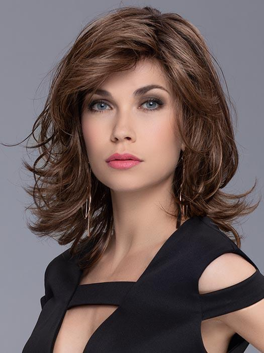 Mid-length Wavy Women's Layered Synthetic Lace Front Wig By Rooted
