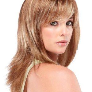 Mid-length Women's Straight Brunette Synthetic Wig Basic Cap