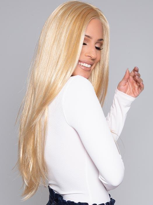 Women's Monofilament Blonde Straight Synthetic Lace Front Wig By Rooted
