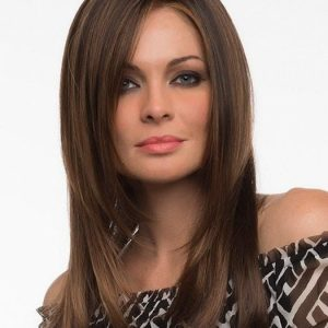 Long Women's Blonde Synthetic Lace Front Wig Brunette Brunette