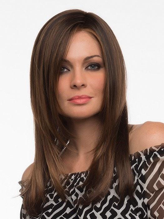 Long Women's Blonde Synthetic Lace Front Wig Brunette Brunette