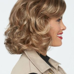 Women's Layered Synthetic Lace Front Wig Mono Part