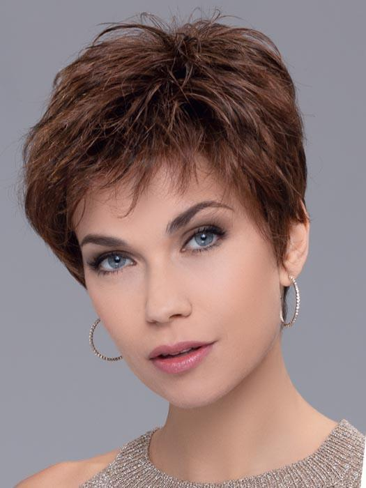 Women's Layered Synthetic Brunette Lace Front Wig Mono Part By Rooted
