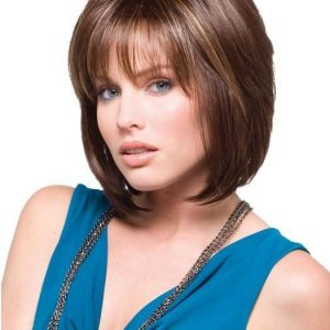 Women's Layered Mid-length Blonde Synthetic Wig Basic Cap By Rooted