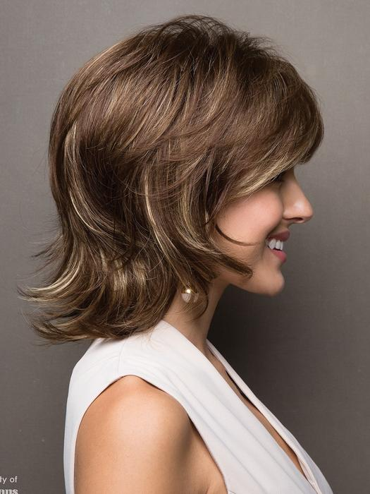 Mid-length Women's Blonde Straight Synthetic Wig By Rooted