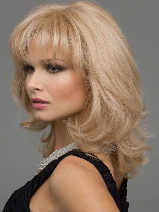 Mid-length Women's Human Hair/ Synthetic Blend Lace Front Wig