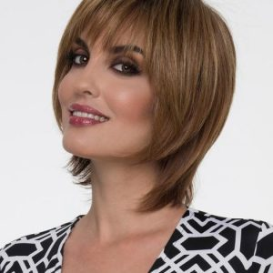 Women's Short Monofilament Human Hair/Synthetic Blend Wig