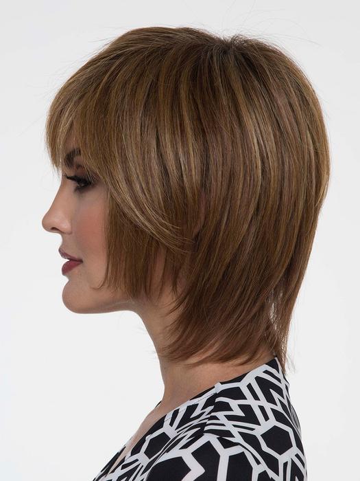 Women's Short Monofilament Human Hair/Synthetic Blend Wig