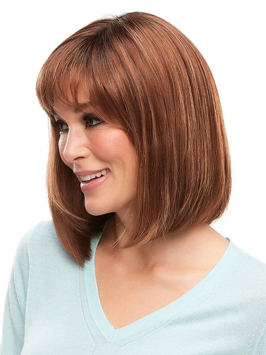 Mid-length Straight Women's Monofilament Synthetic Lace Front Wig