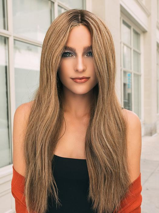Women's Blonde Human Hair Hand-Tied Lace Front WigWomen's Long Human Hair Hand-tied Lace Front Wig