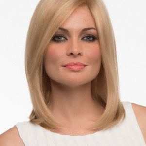 Mid-length Women's Monofilament Human Hair Lace Front Wig