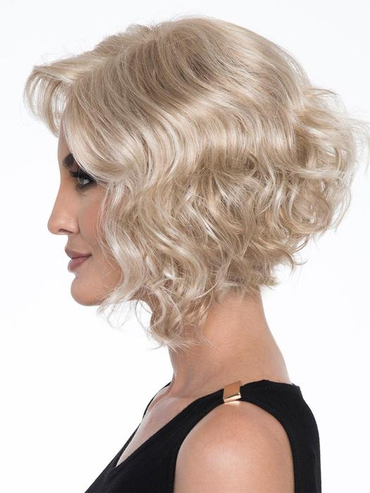 Women's Gray Monofilament Curly Synthetic Lace Front By Bob