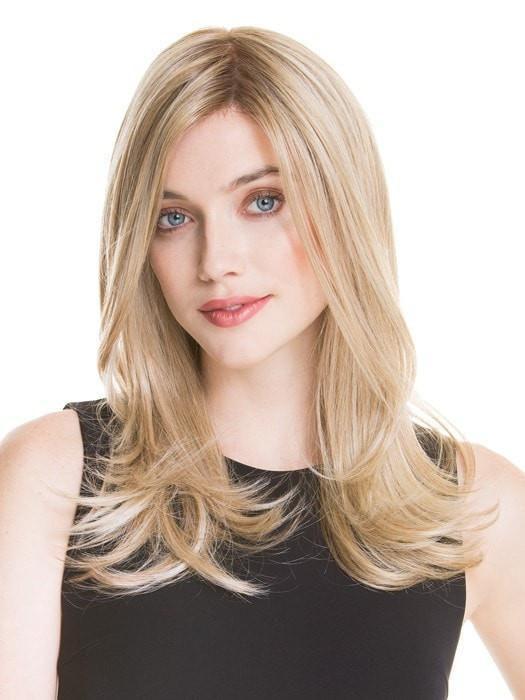 Women's Long Blonde Wavy Monofilament Synthetic / Human Hair Blend Wig
