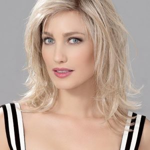 Women's Straight Human/Synthetic Hair Blend Lace Front Wig By Rooted