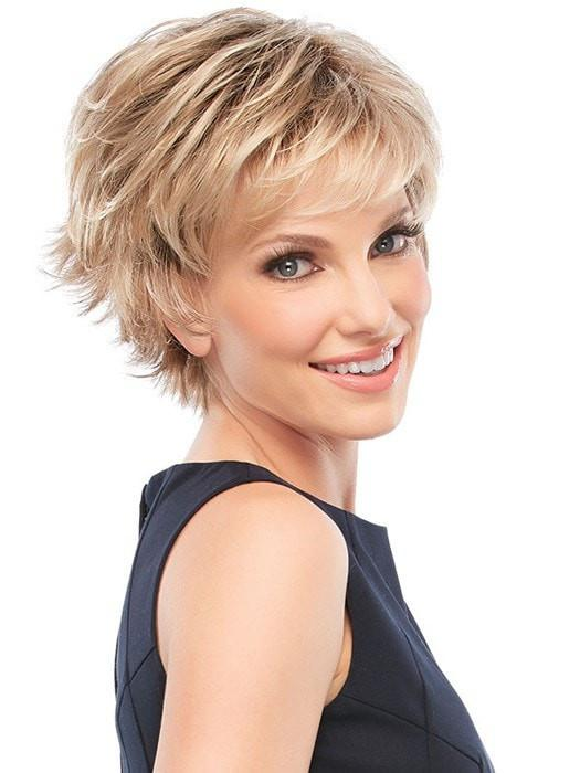 Women's Short Straight Red Monofilament Synthetic Wig Mono Top