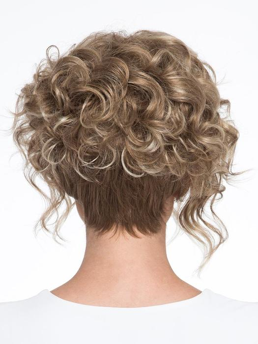 Women's Black Short Synthetic Curly Wigs By Bob