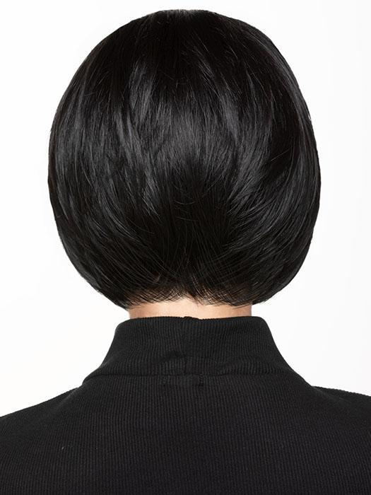 Women's Black Short Synthetic Rooted Lace Front Wig