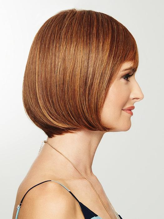 Blonde Straight Women's Mid-Length HF Synthetic Wig Basic Cap