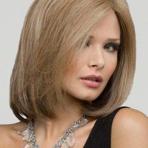 Women's Monofilament Human Hair/ Synthetic Blend Lace Front Wig
