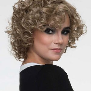 Women's Monofilament Human Hair/ Synthetic Blend Wig Mono Top