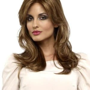 Women's Blonde Long Straight Synthetic Lace Front Wig By Rooted